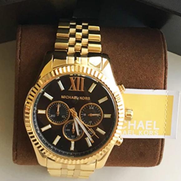 1ee41b35cf7f BRAND New Michael Kors Gold Men s Watch MK8286